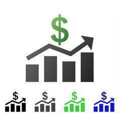 Sales chart flat gradient icon vector