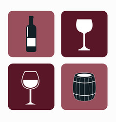 Set wine label design isolated vector