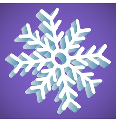 Snowflake Smooth Icon In Perspective On Lavender vector image vector image