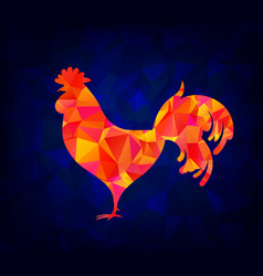 the abstract image of a rooster design styling vector image
