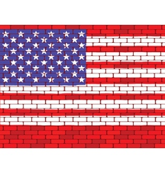 usa brick wall vector image