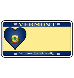 Vermont license plate vector