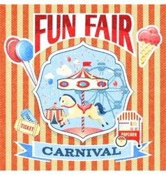Vintage carnival poster template vector