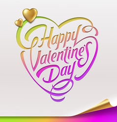 Valentines day greeting sign - vector