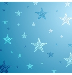 Bright blue starry background vector