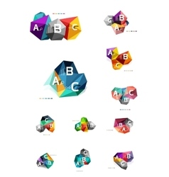 Colorful abstract low poly infographic vector