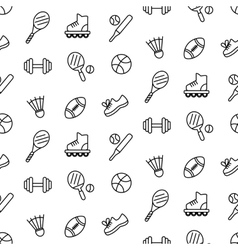 Seamless pattern with sport equipment vector