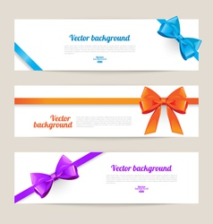 Set of card with gift bows vector