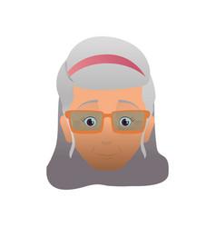 Grandmother elder person glasses vector
