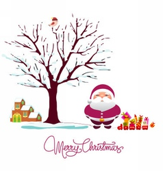 Winter holiday card vector