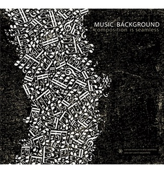 Dark grunge seamless music background canvas vector