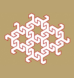 geometric design vector image