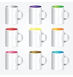 High detailed cups vector