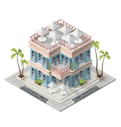 Isometric restaurant building vector