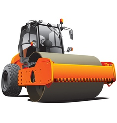 Road work compactor roller vector