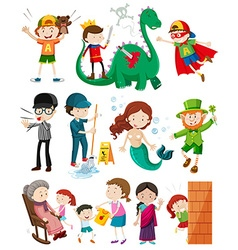 People doing different activities vector