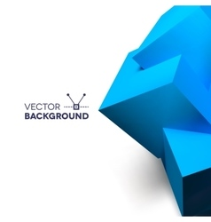 Abstract background with overlapping blue cubes vector