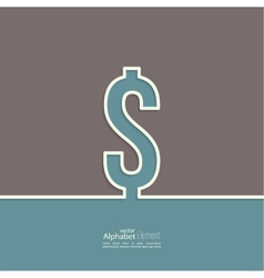 Abstract background with a dollar sign vector