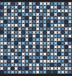 Abstract pattern blue white shapes seamless vector