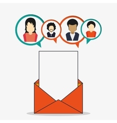 Avatar envelope people social network icon vector