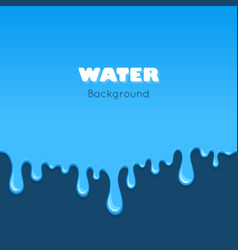 background of dribble blue liquid vector image vector image