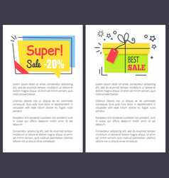 Best super sale with gifts and price reduction vector