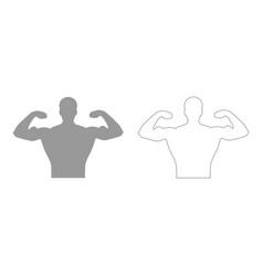 Bodybuilder icon vector