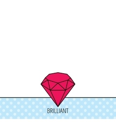 Brilliant icon Diamond gemstone sign vector image vector image
