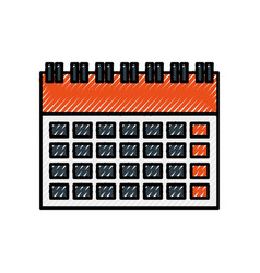 calendar business date appointment planning icon vector image
