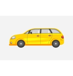 Car hatchback side view vector