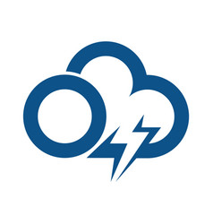 cloud and lightning logo and icon design vector image
