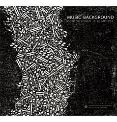 Dark grunge seamless music background canvas vector