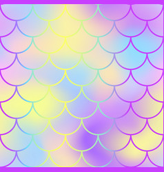 fish scale pattern with active color mesh vector image vector image