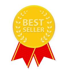 Gold Label Best Seller vector image