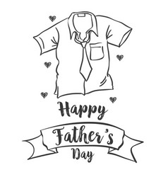 Happy father day simple style vector