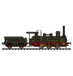 historical black steam locomotive vector image vector image