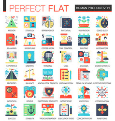 Human productivity complex flat icon vector