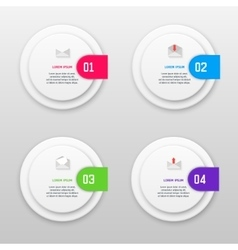 infographics template with four options in vector image vector image