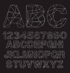 Lowpoly Outline Font vector image
