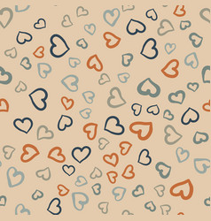 many hearts seamless tile valentines day vector image