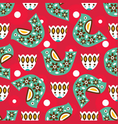Mexican bright pattern vector