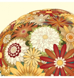 Mixed flowers vector