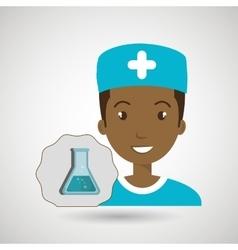 nurse laboratory chemistry vector image