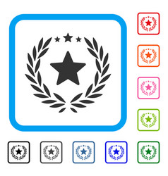 proud emblem framed icon vector image