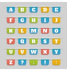 Set of bookmarks stickers labels tags alphabet vector image vector image