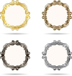 Set of metal frame vector