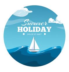 summer holiday postcard design sea vector image vector image