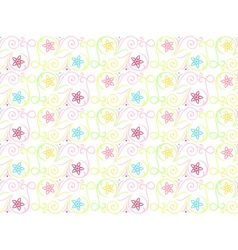 Summer seamless color pattern vector image vector image