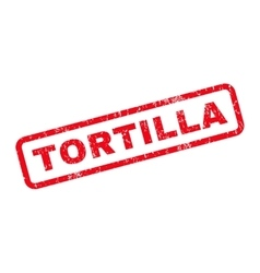 Tortilla Rubber Stamp vector image