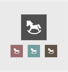 toy horse icon simple vector image